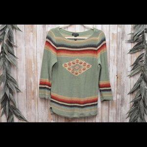 Ralph Lauren Tribal 3/4 Sleeve Sweater